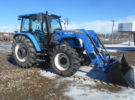 Used 2011 New Holland T5070 Tractor w/ New Holland 820TL Loader Stock #953 Price: $36,500