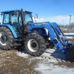 D&D Sales Cortez, CO Used 2011 New Holland T5070 Tractor w/ New Holland 820TL Loader