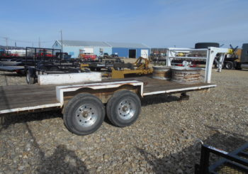 Used 1973 18′ Homemade Gooseneck Equipment Trailer Price: $2250