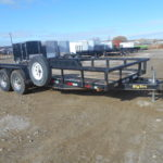 D&D Sales Cortez, CO Used 2007 Big Tex 12PI 20' Equipment Trailer